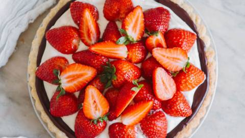 Jordbærtærte med mørdejsbund