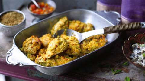 Murgh Tandoori (marinerede kyllingestykker i ovn)