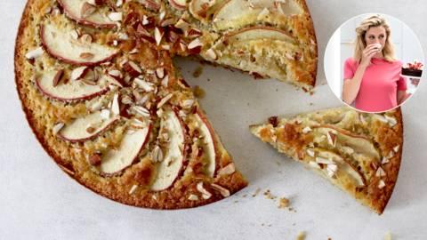 Kage med havregryn og æble