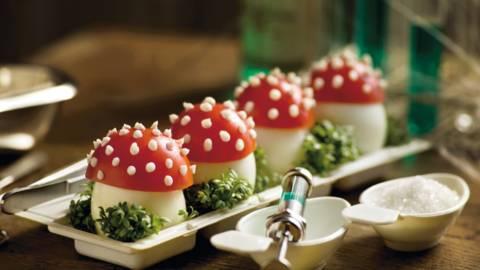 Giftige svampe (æg med tomattop)