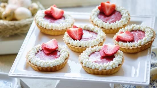 Jordbærtærter med jordbærcurd