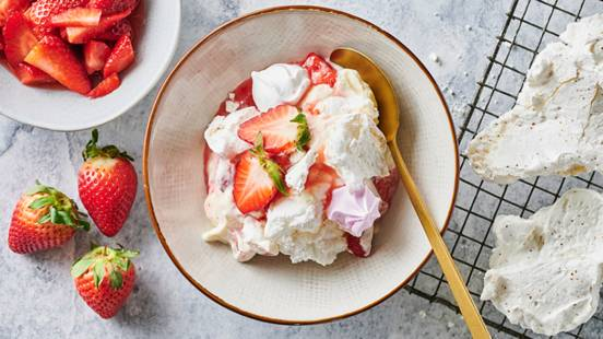 "A LIDL strawberry ""Eton mess"""