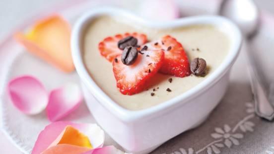 Mousse au Café med jordbær