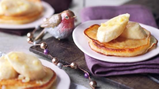 Pandekager med ingefær og banan