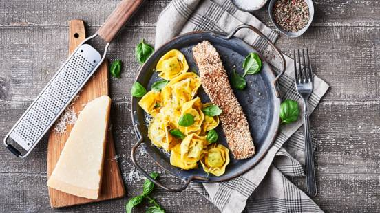 Sesam-laks med pasta