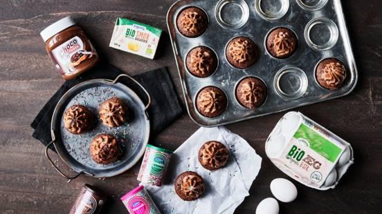 Choco nussa cupcakes