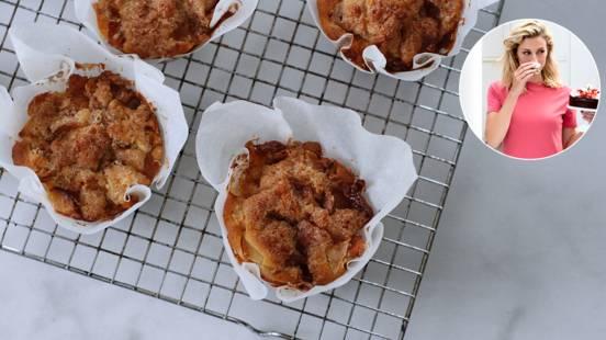 Muffins med æbler og kanelremonce