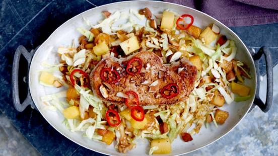 Thai-koteletter med salat