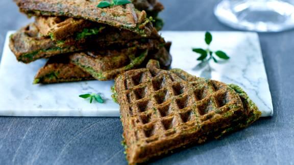 Grønne frokostvafler