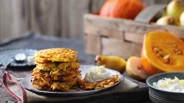 Pandekager med græskar og ingefær