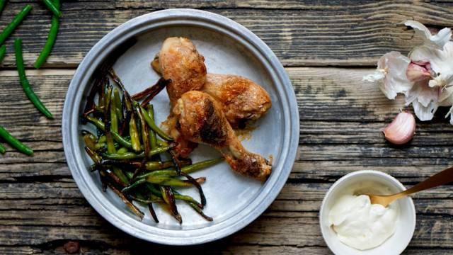 Bønnefritter og kyllingelår