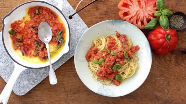 Opskrift på chunky tomatsauce fra Lidl