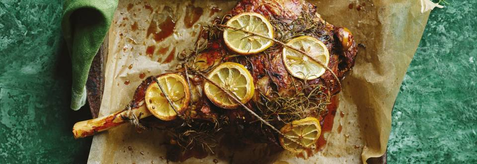 Lammekølle med citron, timian og hvidløg