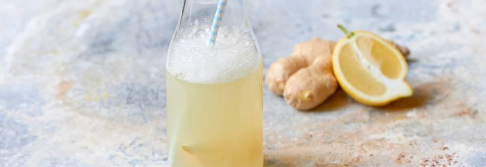 Ingefær- og citrondrik