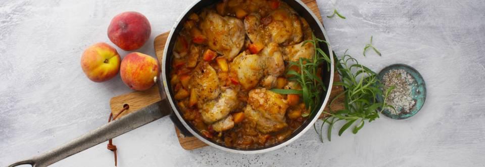 Opskrift på one pot fersken-kylling fra Lidl