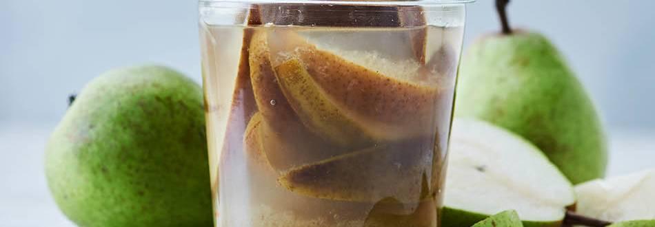 Opskrift på lynsyltede pærer i ingefær fra Lidl