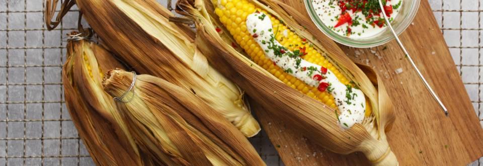 Opskrift på grillede majs med chilicreme fra Lidl