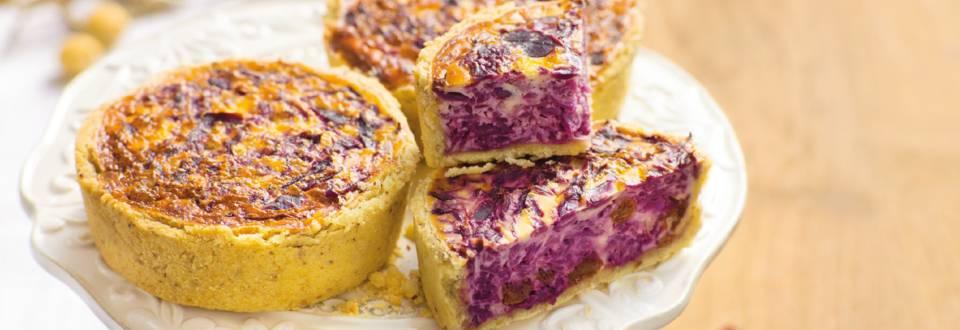 Rødkålstærter med flødeost