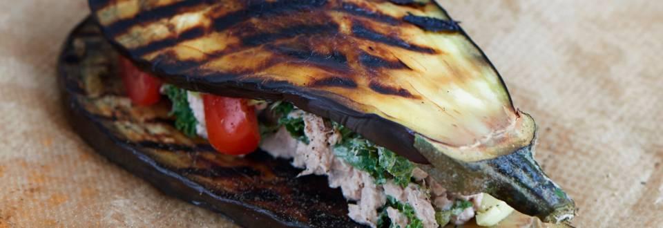 Aubergine-sandwich