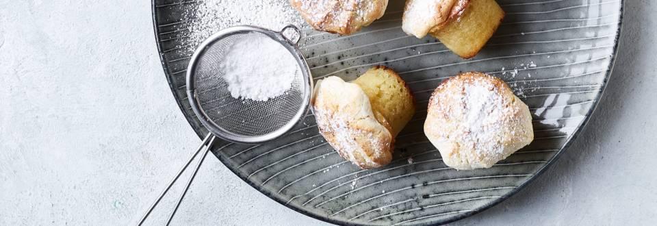 Små kransekage-cupcakes