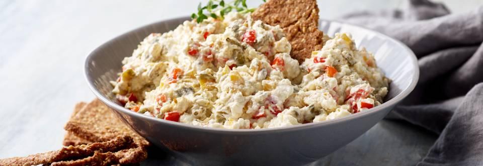 Dip med salatost og peberfrugt