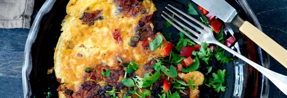 Spansk omelet med chorizo