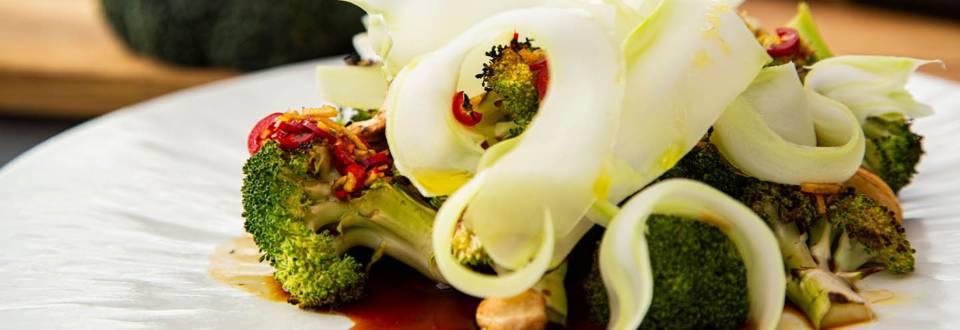 Grillet broccoli med ingefær og soja