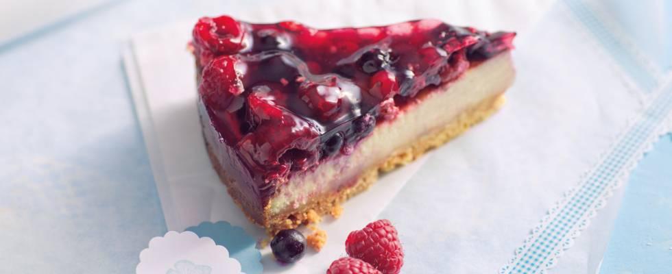 New York cheesecake med bær